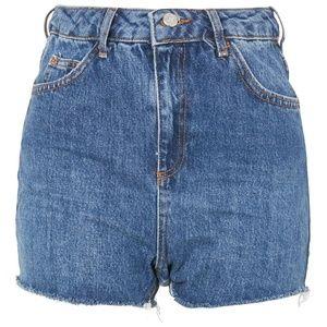 Topshop Moto Mom Jean Shorts High Waist